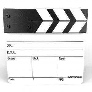 CL11 Кинохлопушка для крупных планов черно-белая на английском языке